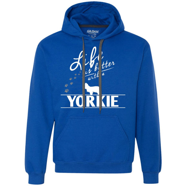 Yorkshire - Life Is Better With A Yorkshire - Heavyweight Pullover Fleece Sweatshirt