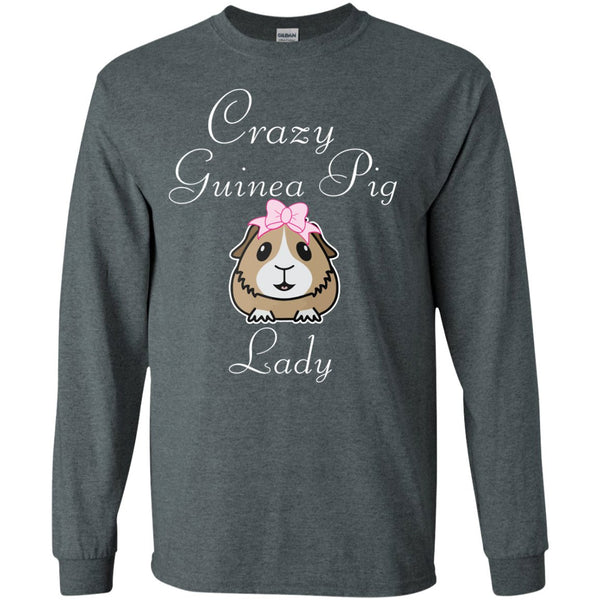 Crazy Guinea Pig Lady  LS Ultra Cotton Tshirt