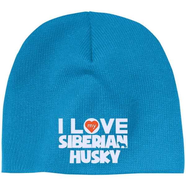 I Love My Siberian Husky - Beanie (Embroidered)