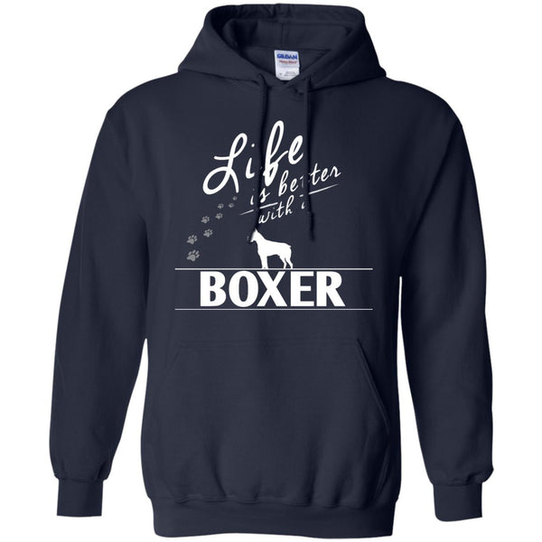 Boxer - Life Is Better With A Boxer Paws - Pullover Hoodie 8 oz