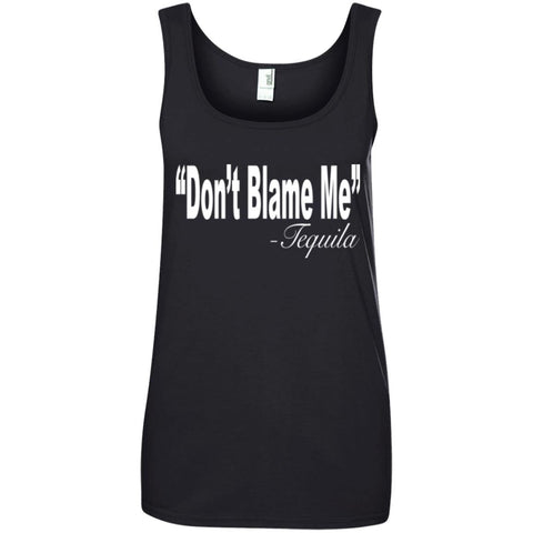 Funny Drinking Shirt - Don't Blame Me Ladies Tank Top
