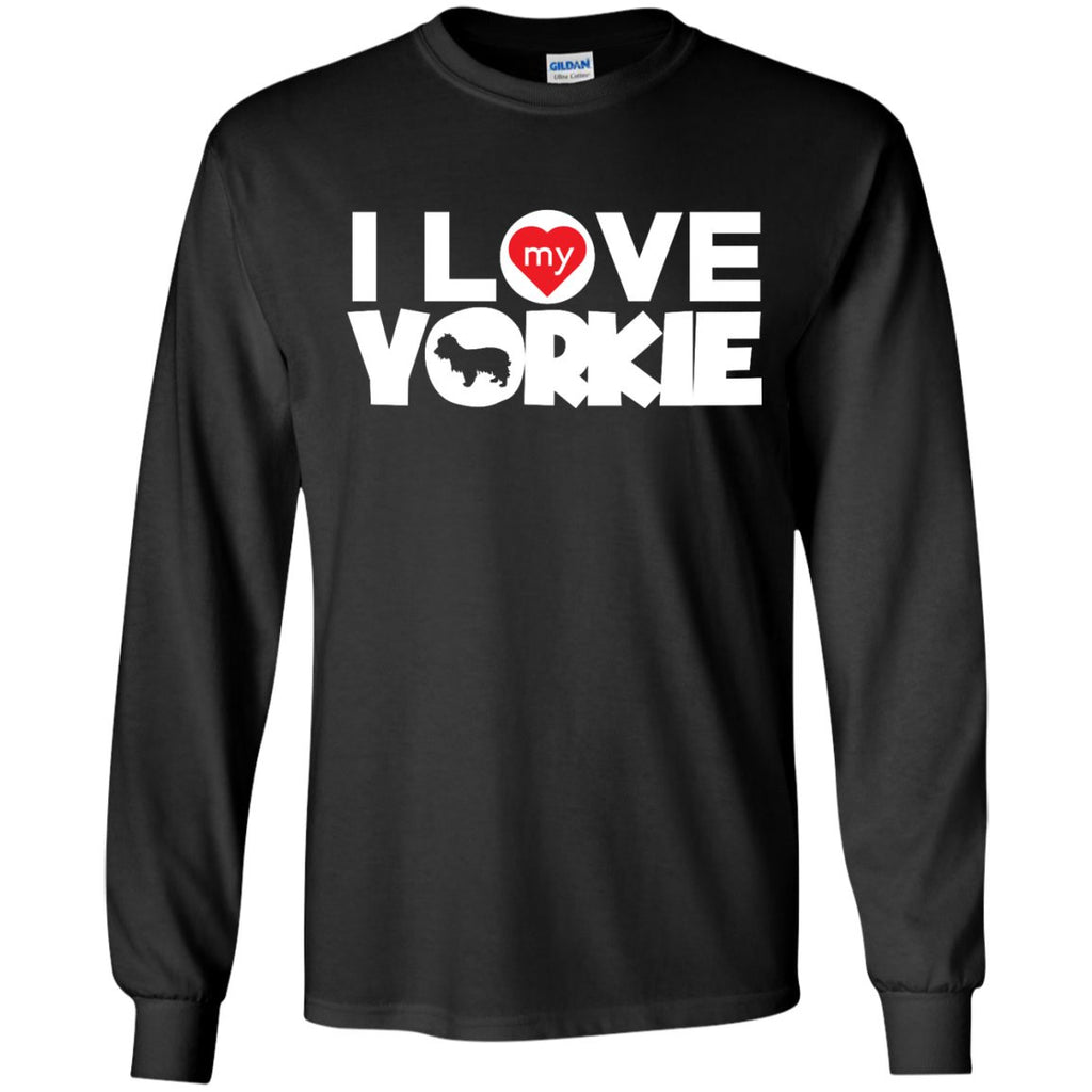I Love My Yorkshire Terrier - LS Ultra Cotton Tshirt