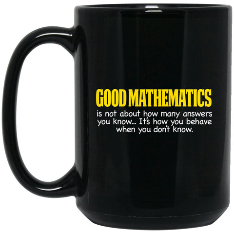 Funny Math Gifts - Math Teacher Gift Good Mathematics Large Black Mug