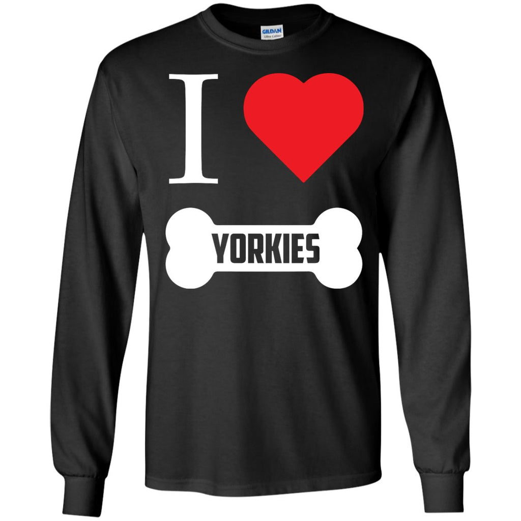 Yorkshire - I LOVE MY YORKSHIRE (BONE DESIGN) - LS Ultra Cotton Tshirt