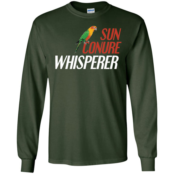 Sun Conures- Sun Conure Whisperer  LS Ultra Cotton Tshirt
