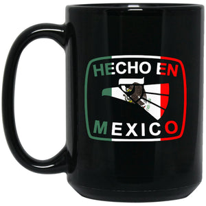 Cool Coffee Mug Mexican Flag Mug for Mexican Pride HEcho En Mexico Large Black Mug