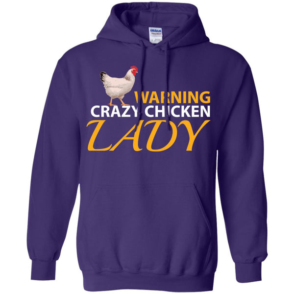 Funny Chicken Shirt - Crazy Chicken Lady Pullover Hoodie 8 oz
