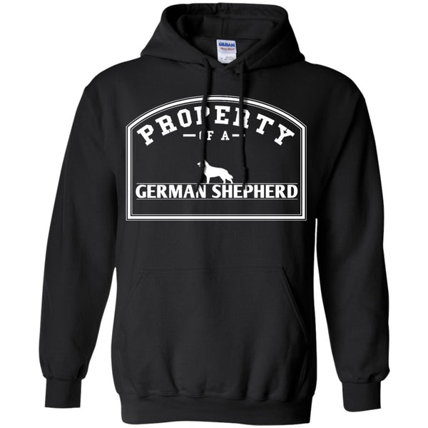 German Shepherd - Property Of A German Shepherd - Pullover Hoodie 8 oz