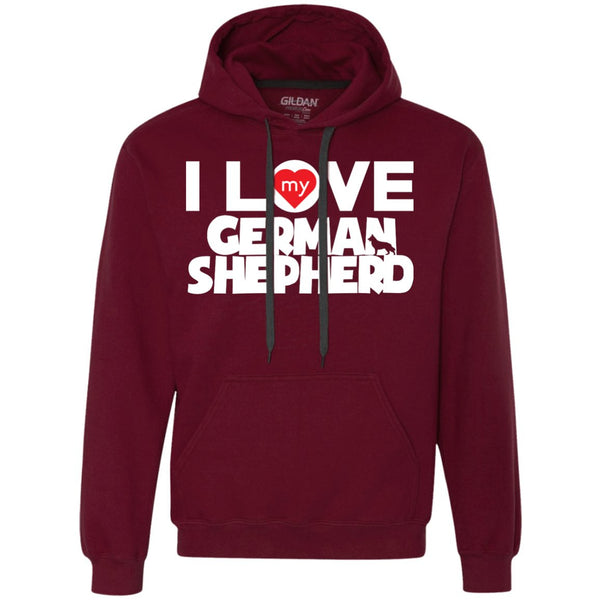 I Love My German Shepherd - Heavyweight Pullover Fleece Sweatshirt