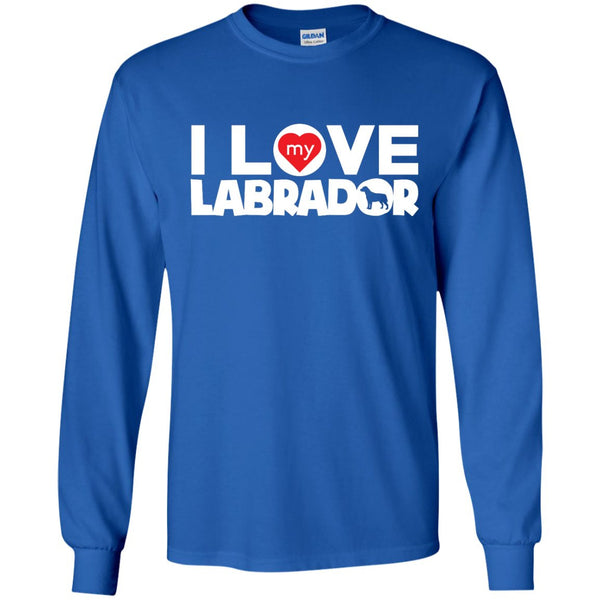 I Love My Labrador - LS Ultra Cotton Tshirt