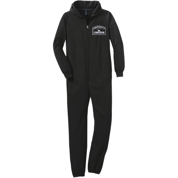 Labrador - Property Of A Labrador - Adult Fleece Onesie (Embroidered)