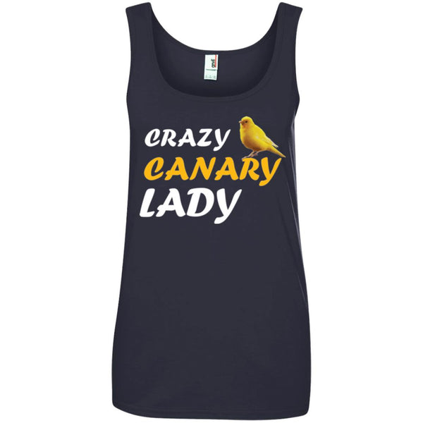 Crazy Canary Lady Ladies Tank Top