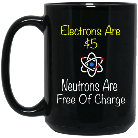 Chemistry - Electrons $5 Large Black Coffee Mug