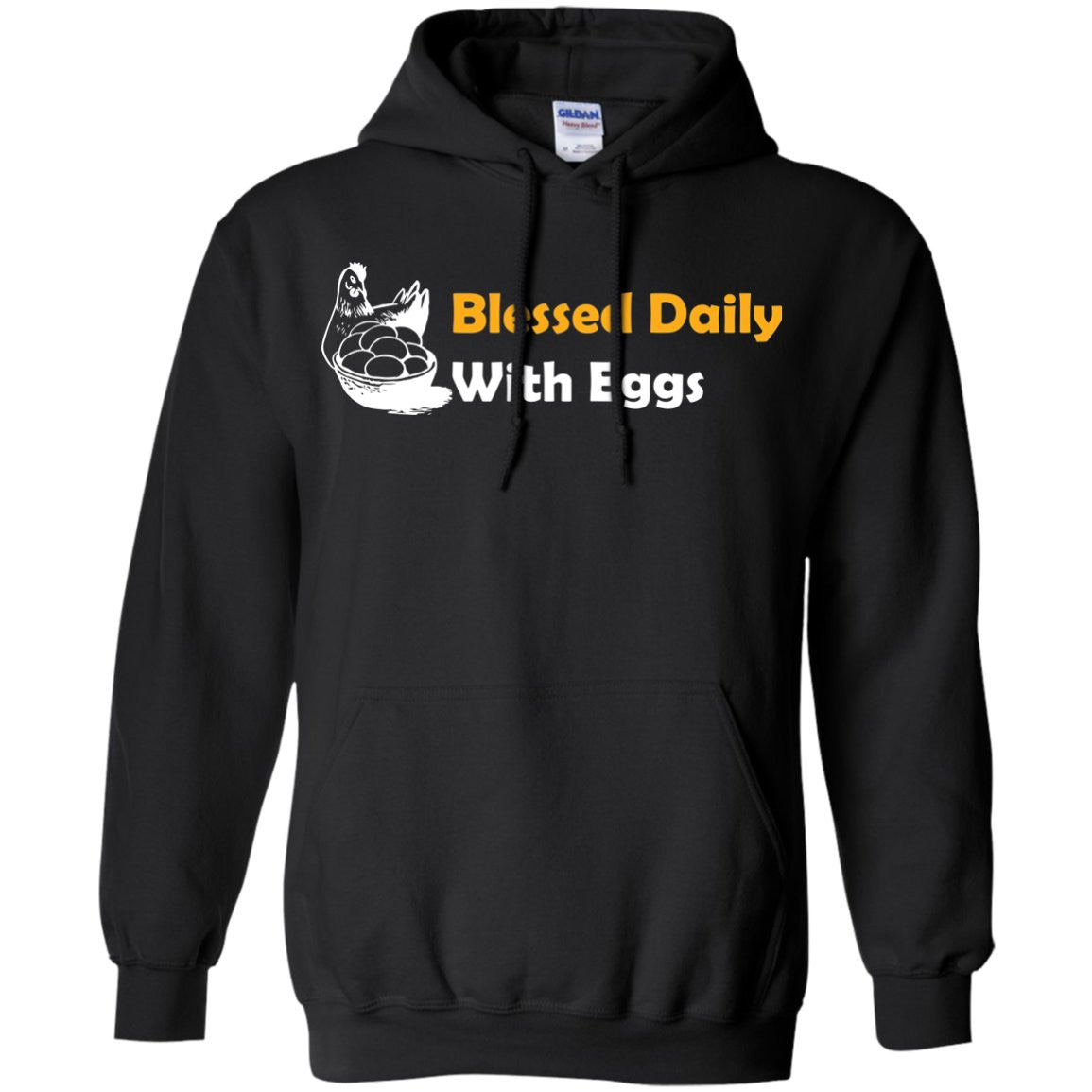 Funny Chicken Shirt - Blessed Daily  Pullover Hoodie 8 oz