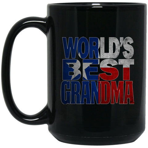 Cool Worlds Best Grandma Mug and Texas Mug Grandma Mug Texas Flag T Mug Large Black Mug