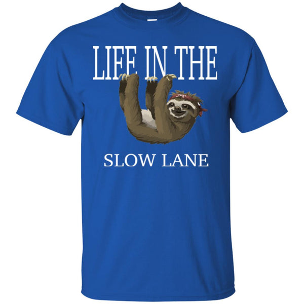 Funny Sloth Shirt - Life In The Slow Lane T-Shirt