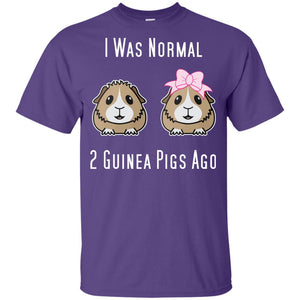 I was normal 2 Guinea Pigs Ago G200B Gildan Youth Ultra Cotton T-Shirt