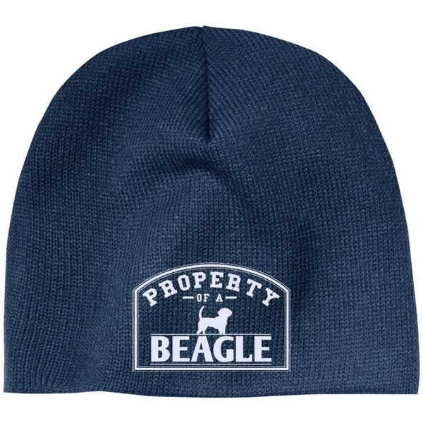 Beagle - Property Of A Beagle - Beanie (Embroidered)