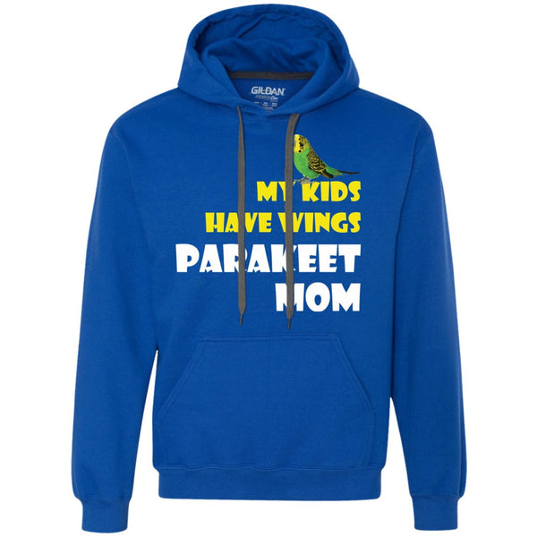 Parakeet Mom - My Kids Have Wings Parakeet Mom  Heavyweight Pullover Fleece Sweatshirt