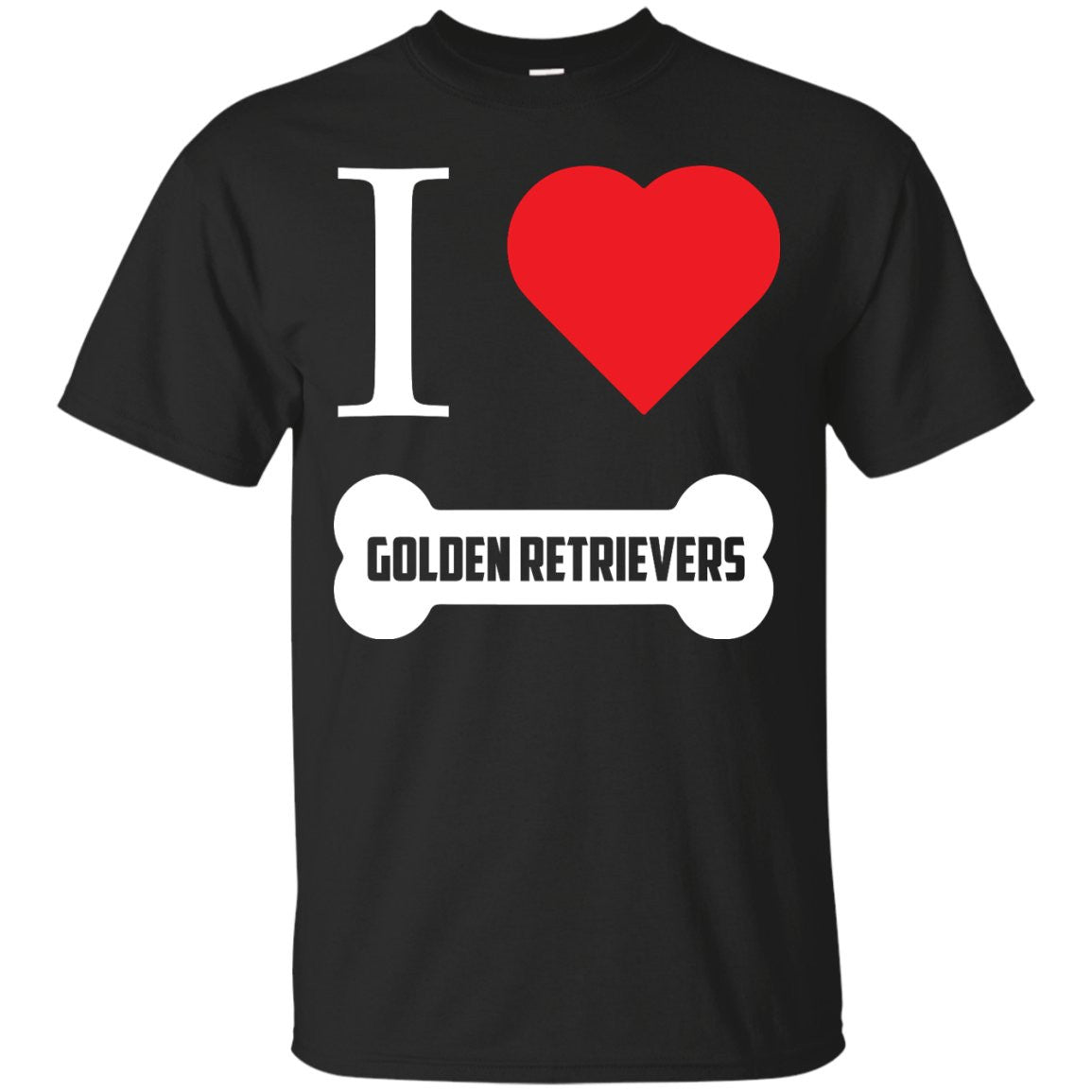 Golden Retriever- I LOVE MY GOLDEN RETRIEVER (BONE DESIGN) -  Custom Ultra Cotton T-Shirt