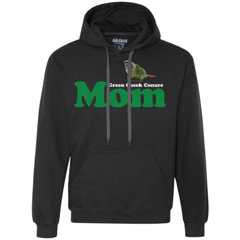 Green Cheek Conure Mom - Funny Shirt  Heavyweight Pullover Fleece Sweatshirt