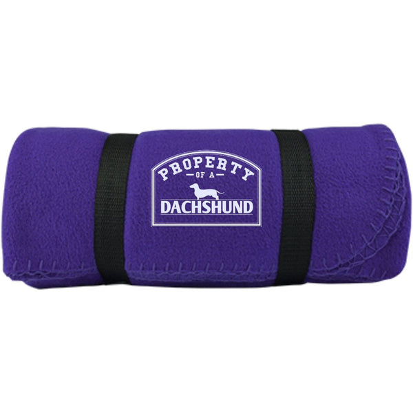 Dachshund - Property Of A Dachshund -  Fleece Blanket (Embroidered)