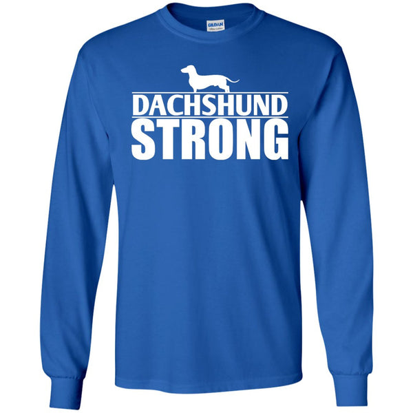Dachshund - Dachshund Strong  LS Ultra Cotton Tshirt