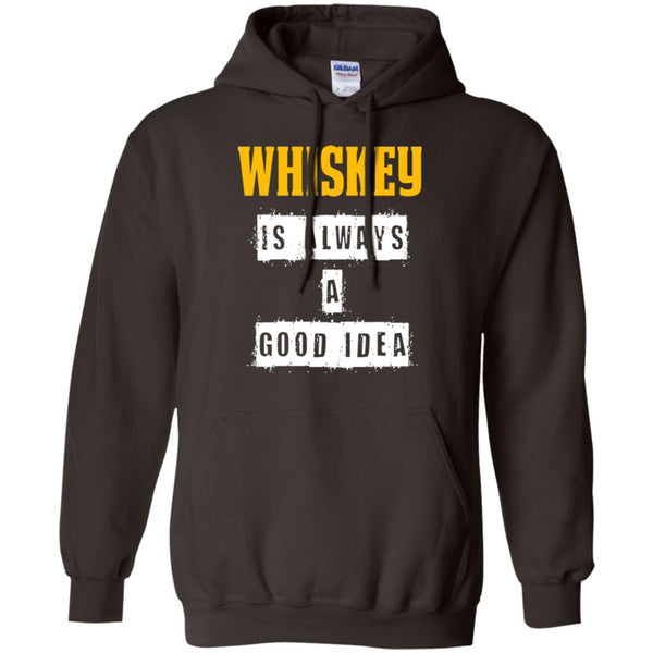 Funny Whiskey Gift - Whisky A Good Idea Hoodie
