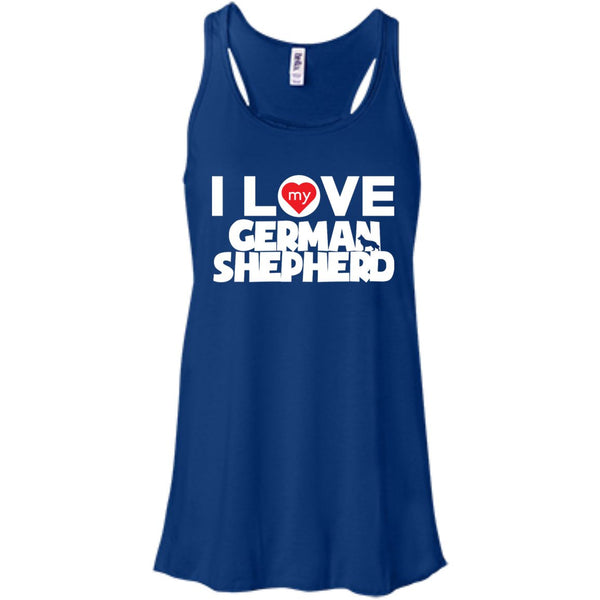 I Love My German Shepherd - Bella+Canvas Flowy Racerback Tank
