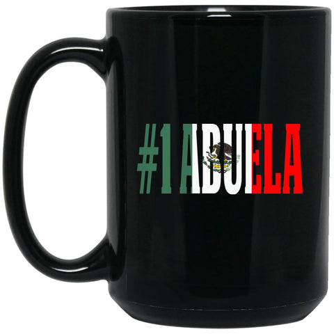 Cool Hijo Gift Coffee Mug For Mexican Flag Mug for Mexican Pride No Outline Large Black Mug