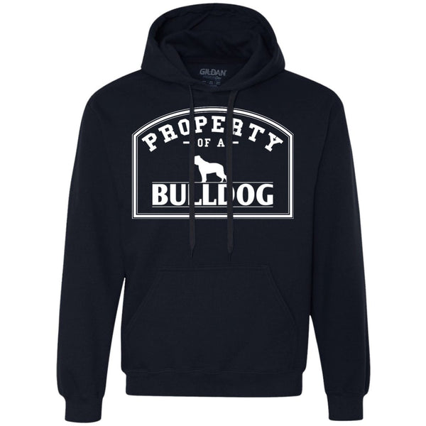 Bulldog - Property Of A Bulldog - Heavyweight Pullover Fleece Sweatshirt