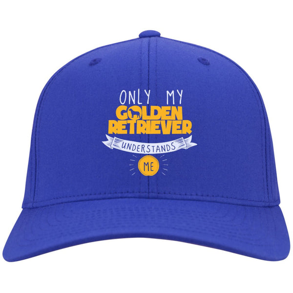 Only My Golden Retriever Understands Me Yellow - Dry Zone Nylon Cap (Embroidered)
