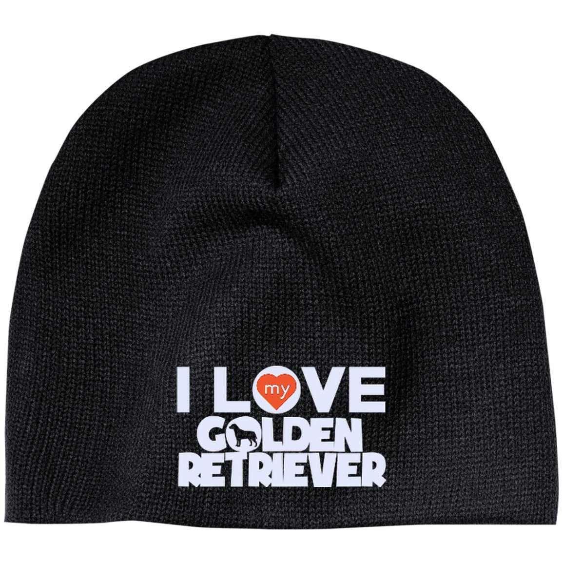 I Love My Golden Retriever - Beanie (Embroidered)