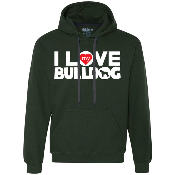 I Love My Bulldog - Heavyweight Pullover Fleece Sweatshirt