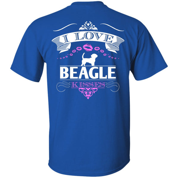 I LOVE BEAGLE KISSES - BACK DESIGN - Custom Ultra Cotton T-Shirt