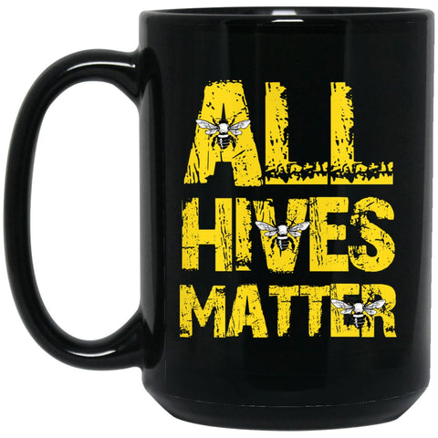 All Hives Matter - Beekeeper Gift Large Black Mug