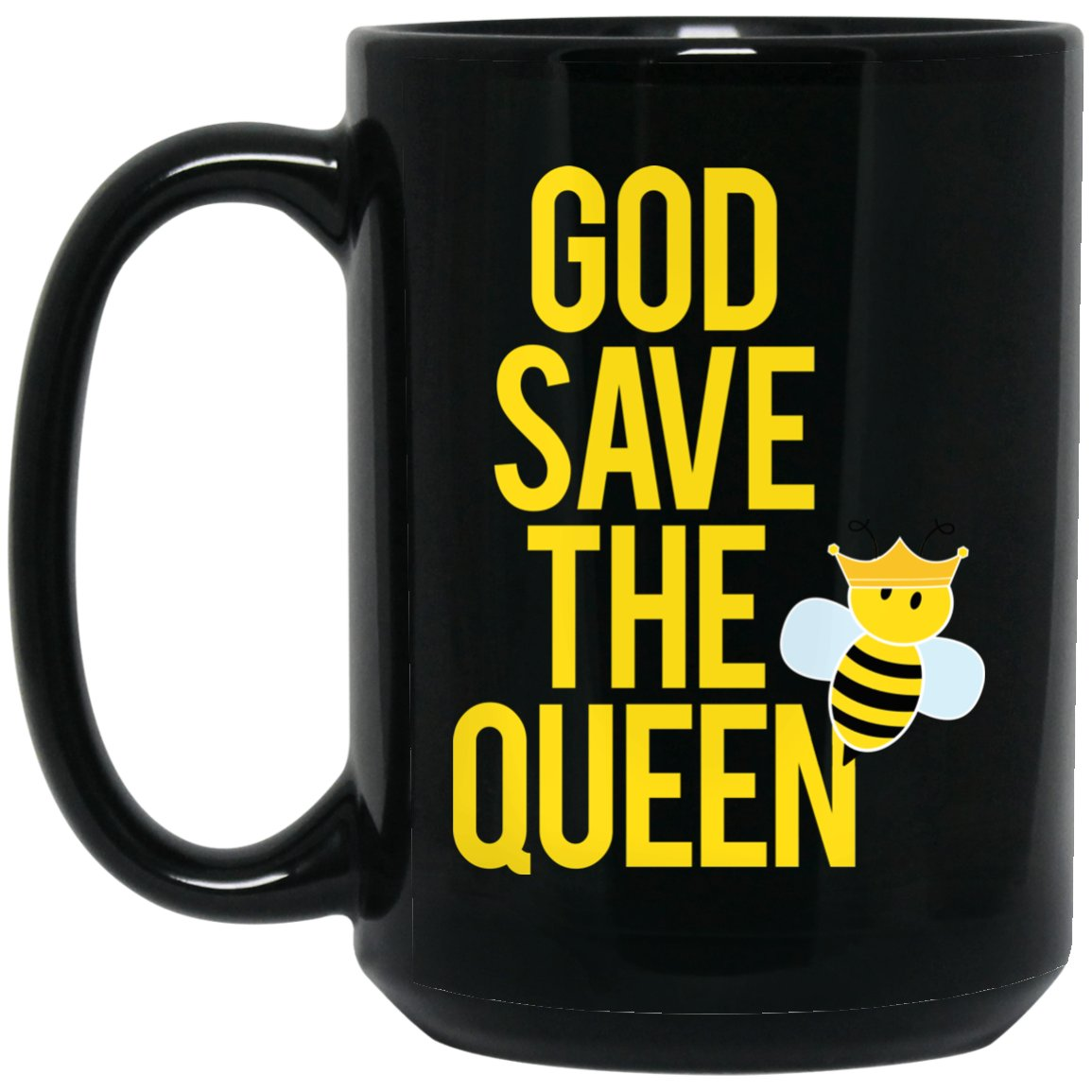 Beekeeper Gift God save the queen Large Black Mug