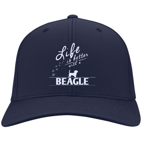 Beagle - Life Is Better With A Beagle Paws - Dry Zone Nylon Cap (Embroidered)