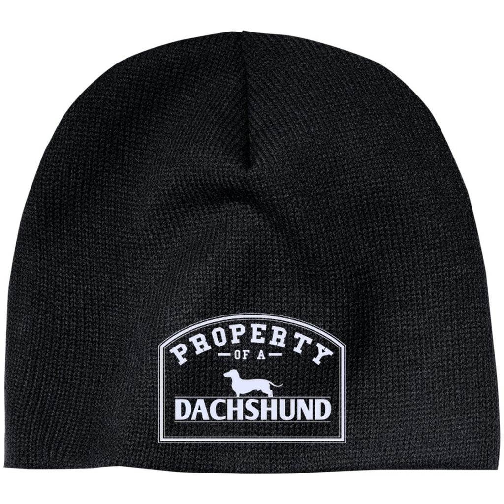 Dachshund - Property Of A Dachshund - Beanie (Embroidered)