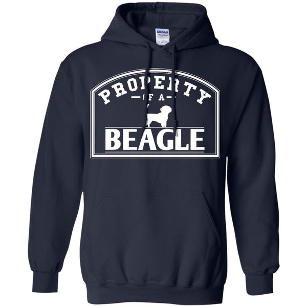 Beagle - Property Of A Beagle - Pullover Hoodie 8 oz