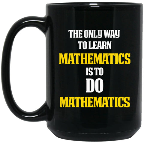 Math Lovers Gifts - Math themed gift - Do math Large Black Mug