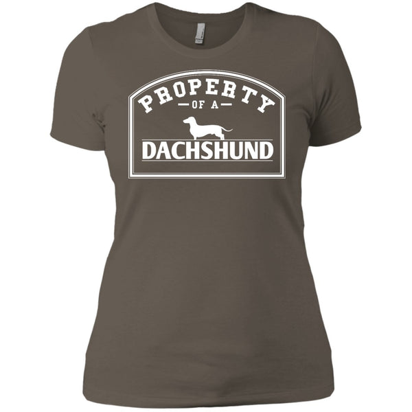 Dachshund - Property Of A Dachshund - Next Level Ladies' Boyfriend Tee