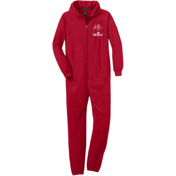 Beagle - Life Is Better With A Beagle Paws - Adult Fleece Onesie (Embroidered)