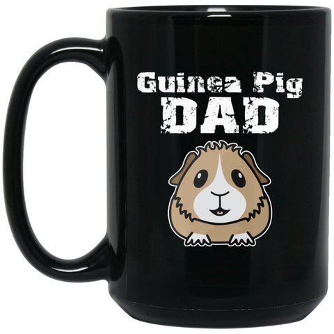 Guinea Pig Dad Large Black Mug