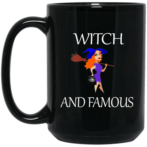 Funny Witch and Famous Large Black Mug
