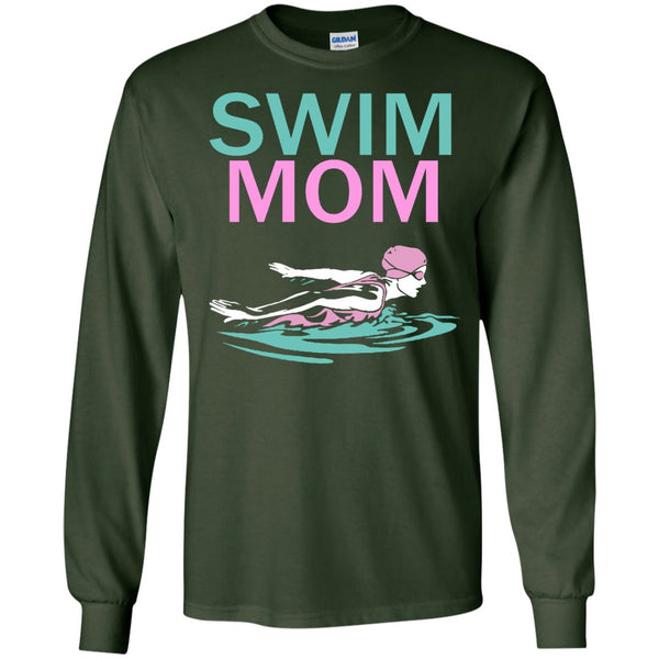 Competitive Swimming Shirt For Mom  LS Ultra Cotton Tshirt