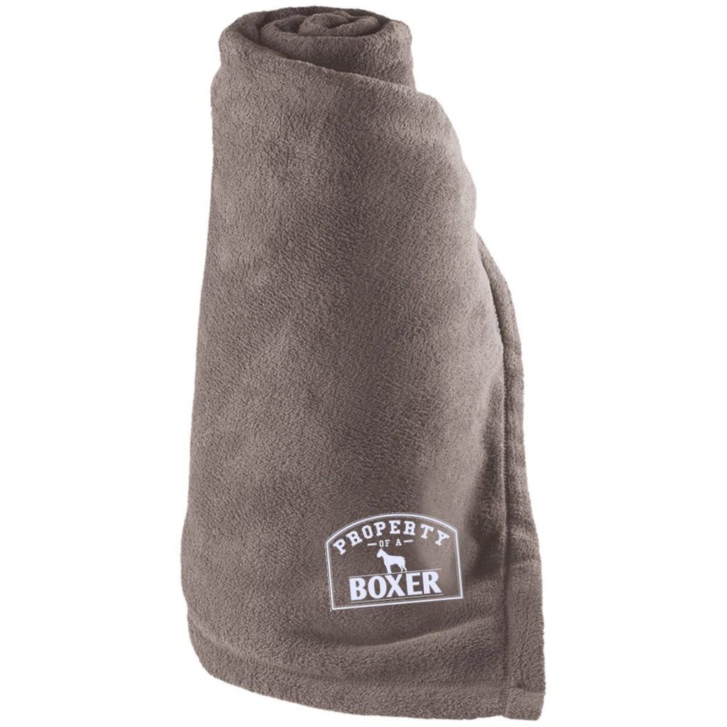 Boxer - Property Of A Boxer - Large Fleece Blanket