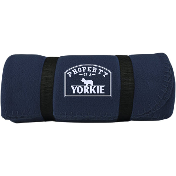 Yorkshire Terrier - Property Of A Yorkshire Terrier - Fleece Blanket (Embroidered)
