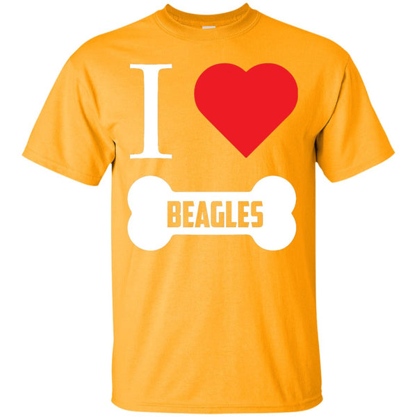 Beagle - I LOVE MY BEAGLE (BONE DESIGN) -  Custom Ultra Cotton T-Shirt