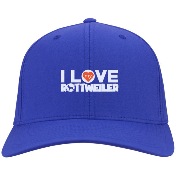 I Love My Rottweiler - Dry Zone Nylon Cap (Embroidered)